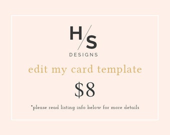 Edit My Card Template for Me