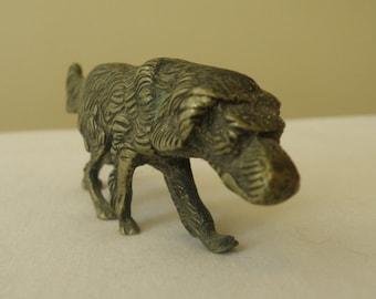 Minerature Bronz Dog Figurine