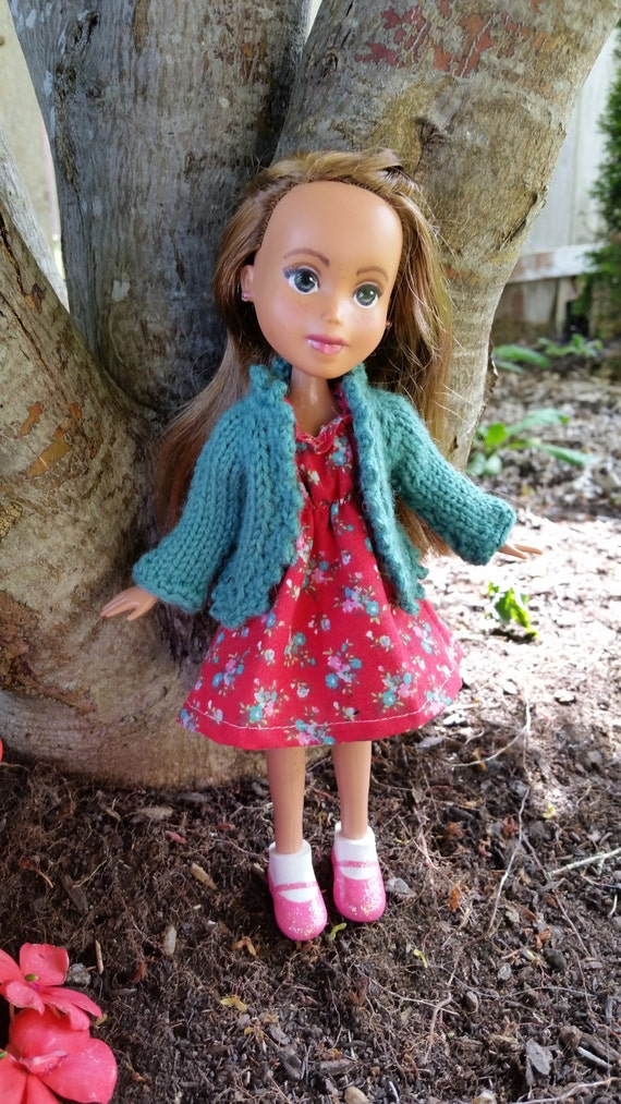 Knitted Cardigan Sweater Pattern for Rescued Dolls pattern