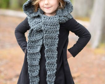 CROCHET PATTERN - Lyna Lynx Hood (Toddler, Child, Teen, Adult sizes)