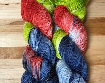 What A Day - Hand Dyed Sock Yarn 75/25 SW Merino/Nylon 463 yds