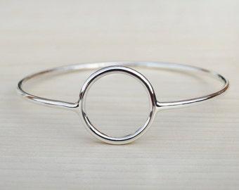Silver Circle Bangle - Sterling Silver