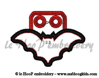 BAT Shoe Charms Machine Embroidery In-Hoop Design 4x4 5x7 6x10 TAGS ITH Costume Goth Hero Applique Wings