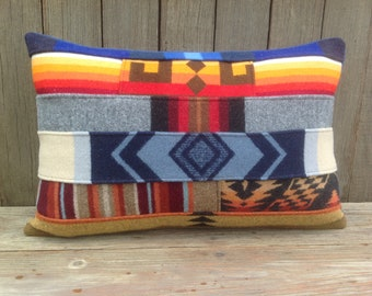Colorful Tribal Mosaic Pillow