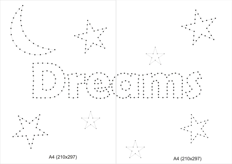 Zeichenfolge Art Muster String Art Vorlage Geschenk für Kinder
