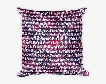 Deep Purple Pattern Pillow Case