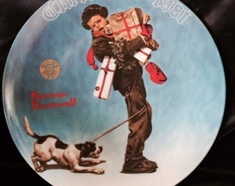 Norman Rockwell 1981 Christmas Plate 8th in a Series Limited Edition by Knowles