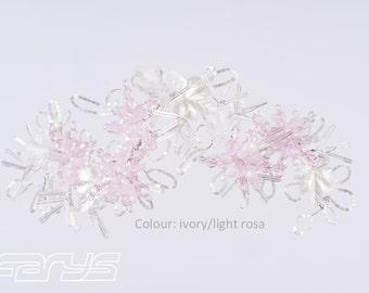 Amirtharaj hair accessories in the delicate pink