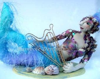 MM241E – Viola, Mermaid Cloth Doll Pattern - PDF