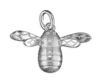 Plain Bumble Bee Sterling Silver Pendant