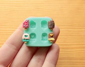 Tiny Ice Creams Silicone Mold (Kawaii)