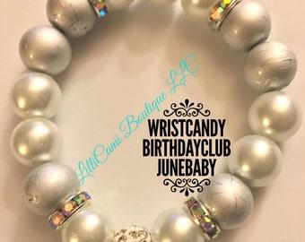 Birthday/June/Bracelet/Pearl