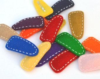 Choose Color(s), Modern Bean Simple Felt Hair Clip(s) - Baby Hair Clips, Toddler Hair Clips, Girls Hair Clips, Boys Hair Clips