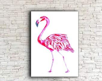 Flamingo Print, Pink flamingo printable, Flamingo Wall Art, Pink flamingo decor, Flamingo artwork, Flamingo,  download, Flamingo digital