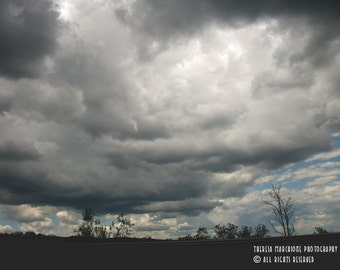 """Signed Original Photograph """"A PERILOUS SKY"""" ∎ Print With Mat ∎ Or Print Only"""