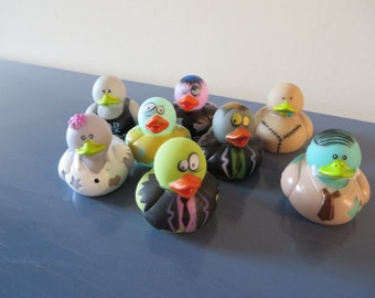 "8 Zombie rubber ducks -  Great for  your ""Walking Dead"" party"