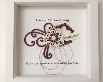 beautiful Mothers Day embellished box frame