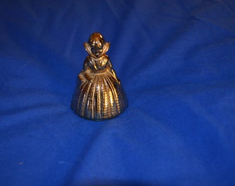 ON SALE    Vintage Brass Bell Shaped Like an Old Fashioned Dutch Girl