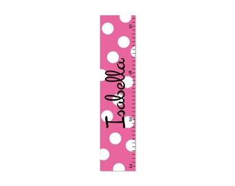 Growth Chart Children Canvas Growth Chart Polka Dot OHSC
