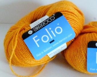 Berroco Folio Golden Mustard Alpaca/Rayon Blend Yarn 2 Balls 4542