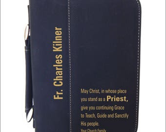 Gift for Catholic Priest - Gifts for Fathers Day - Priest Appreciation Gift - Bible Case - Priest Birthday Gift, BCL011