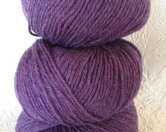 organic wool 100% pure new wool - getting-purple Pearl. 50 g.