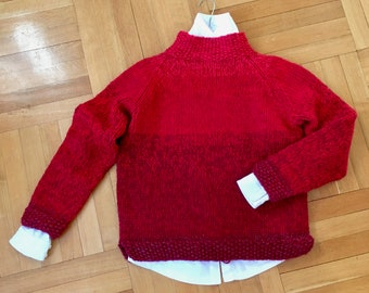 Hand knit weekend sweater size Small