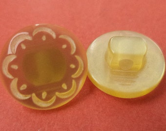12 small buttons 12mm yellow (6171) button