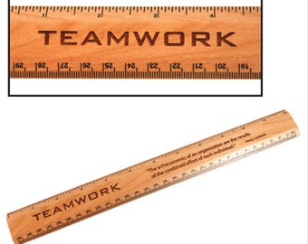 12 inch Maple Wood Ruler - Free Personalized Engraving