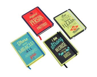 Quote A6 Notebook - Red Yellow Green Black