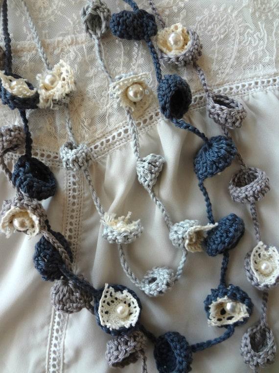 Crochet Pattern Bohemian Bells Necklacescrochet Necklace Flower