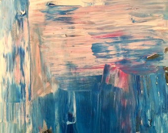 "Still Water - Original Abstract Acrylic Painting 20"" x 16"""