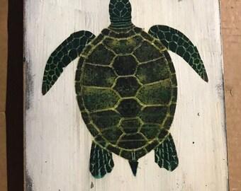 Sea Turtle Wood Sign, turtle, distressed wood sign, beach sign, sign, sea turtles, vintage sign, sea turtle sign