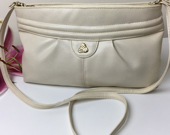 80's Bone Colored Cross Body Bag