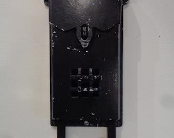 Vintage  Cast Aluminum, Metal, Wall Mounted, Mailbox , Letter Box, Country Wall Box, Country Mail Box