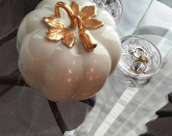 Vintage Celadon Porcelain Melon Cachepot