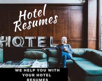 Hotel Resume writing Service