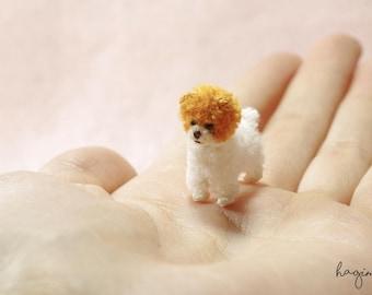 Miniature Pomeranian, tiny Boo dog, pomeranian puppy crochet, tiny crochet dog, amigurumi animals
