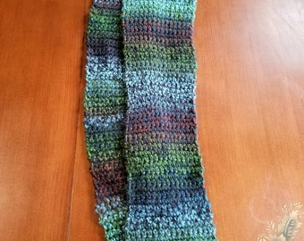 Muted Rainbow Infinity Scarf