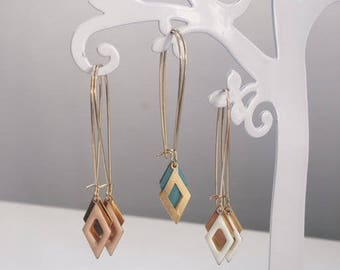 Earrings refined with diamonds on Gold - Filled 14 k Gold - Wedding accessory
