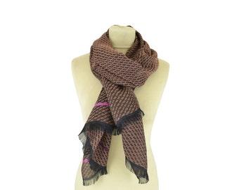 Motif Wax old pink - Woman's scarf - La Tribu des Oiseaux