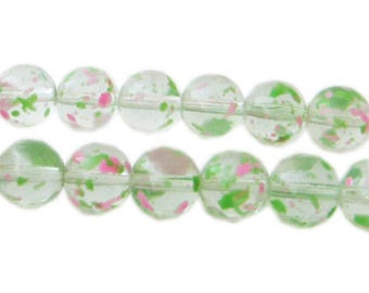 10mm Spring Meadow Season Glass Beads, approx. 22 beads