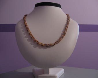 Earth Tone Spiral Rope Necklace