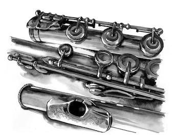 Flute - print