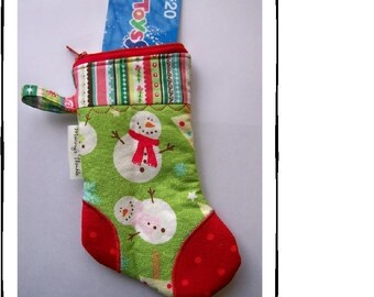 NEW PDF -Easy to Sew Mini Zippered Stocking Pouch