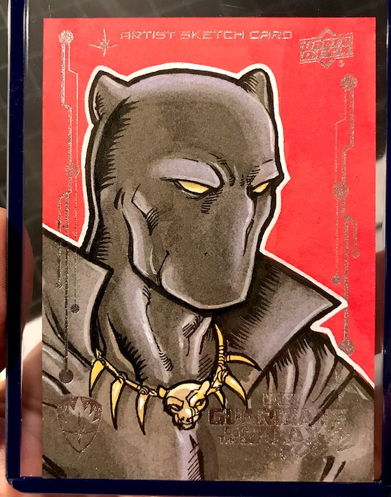 Black Panther Original Artist Sketch Card: Guardians of the Galaxy Volume 2, Upperdeck