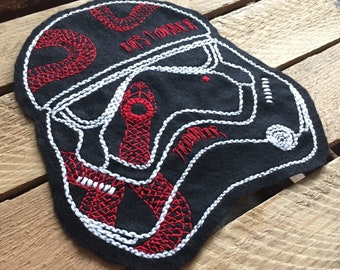 Tattooed Trooper, Storm Trooper, Patch, Storm Trooper Art, Storm Trooper patch, Star Wars Art, Star Wars, Star Wars Patch, First Order