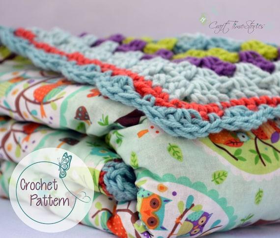 Reversible Baby Blanket Crochet Pattern Baby Blanket Pdf