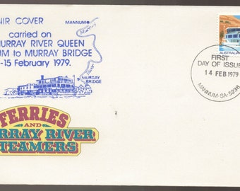 1979 Australia FERRIES on Murray River Steamers Carried by PS Murray River Queen Souvenir Cover