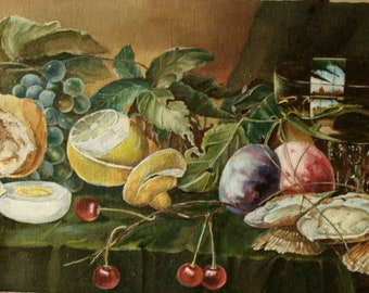 still life . Oil on canvas.20-40cm